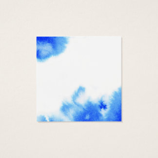 Blue watercolour creative design square business card