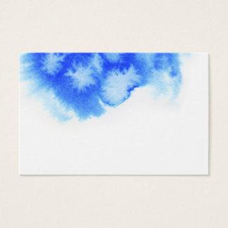 Blue watercolour design business card