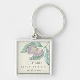 BLUE WATERCOLOUR OLIVE SAVE THE DATE WEDDING GIFT KEY RING
