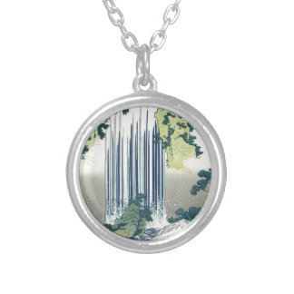 Blue Waterfall Silver Plated Necklace
