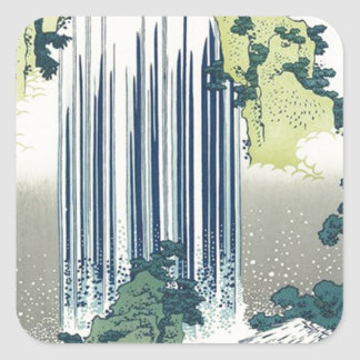 Blue Waterfall Square Sticker