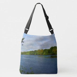 Blue Waters of Stillwater River Crossbody Bag