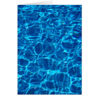 Blue Waters Swimming Pools Patterns Waves Ripples Card