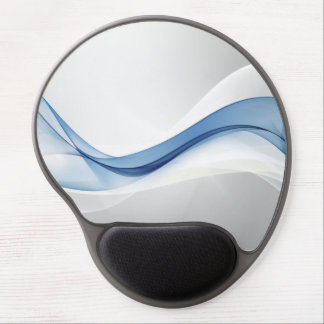 Blue Wave Abstract Gel Mouse Pad