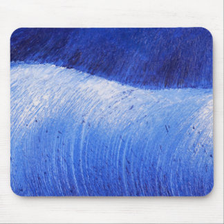 Blue Wave Abstract Painted Ocean Sea Painting Mouse Pad