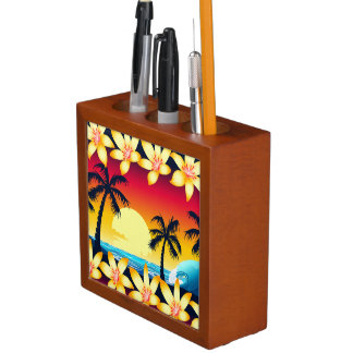 Blue wave at sunrise desk organiser