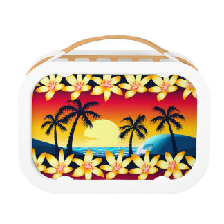 Blue wave at sunrise lunch box