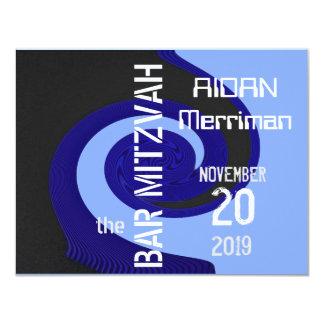 Blue wave Bar Mitzvah Card