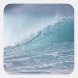 Blue wave crashing, Maui, Hawaii, USA 2 Square Sticker