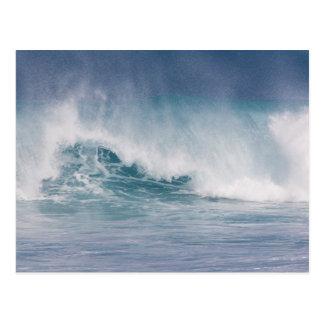 Blue wave crashing, Maui, Hawaii, USA 3 Postcard