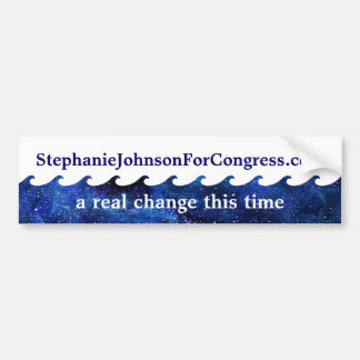 Blue Wave Election Campaign 2018 Personalised Bumper Sticker