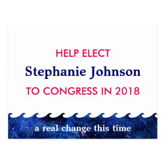 Blue Wave Election Campaign 2018 Personalised Postcard