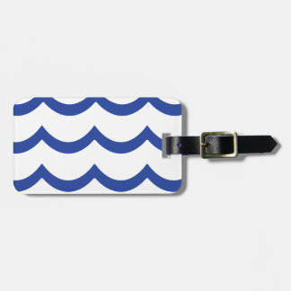 BLUE WAVE LUGGAGE TAG