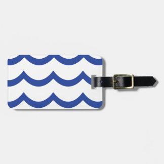 BLUE WAVE LUGGAGE TAGS