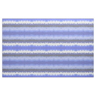 Blue wave painted stripes fabric