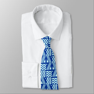 Blue Wave Pattern Tie