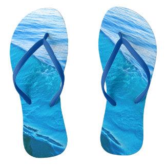 Blue wave thongs