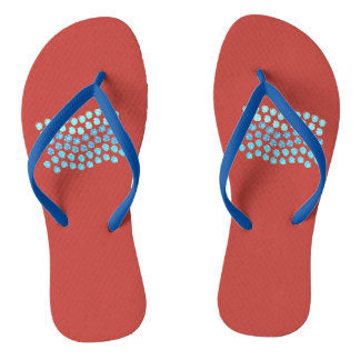Blue Waves Adult Slim Strap Flip Flops