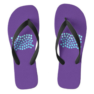 Blue Waves Adult Wide Strap Flip Flops