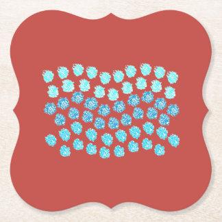 Blue Waves Bracket Paper Coaster