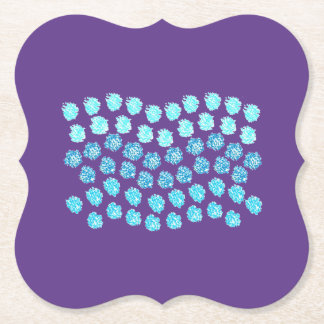 Blue Waves Bracket Paper Coaster