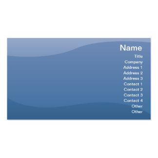 Blue Waves - Business Pack Of Standard Business Cards