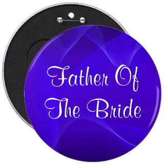 Blue Waves Father Of The Bride 6 Cm Round Badge