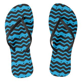 BLUE WAVES flip flops Thongs