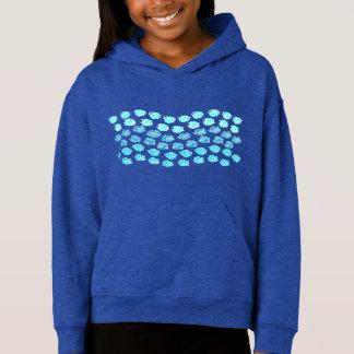 Blue Waves Girls' Pullover Hoodie