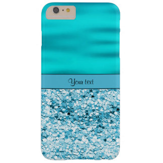 Blue Waves & Glitter Barely There iPhone 6 Plus Case