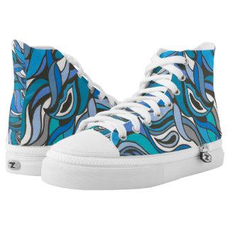 Blue Waves High Top Sneaker