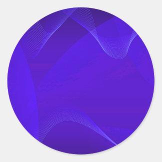 Blue Waves I Round Stickers