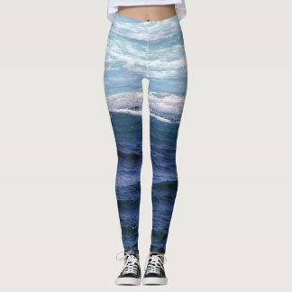 Blue Waves Leggings
