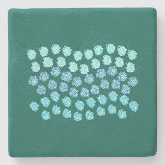 Blue Waves Limestone Coaster