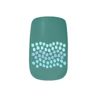 Blue Waves Minx Nail Art