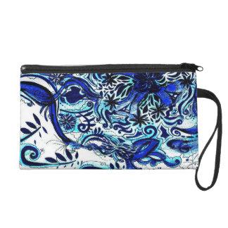 Blue waves, old fashioned bag wristlets