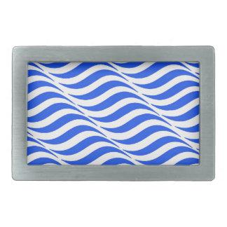 Blue Waves Rectangular Belt Buckle