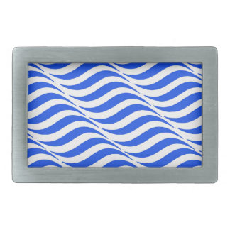 Blue Waves Rectangular Belt Buckles