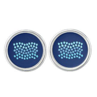 Blue Waves Round Cufflinks