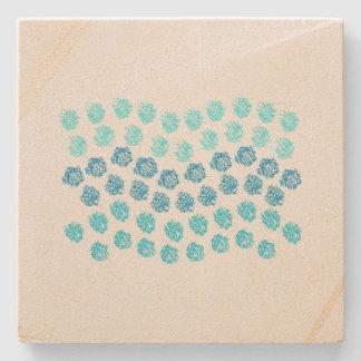Blue Waves Sandstone Coaster