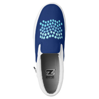Blue Waves Slip On Shoes
