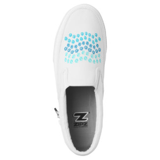 Blue Waves Slip On Shoes Printed Shoes