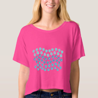Blue Waves Women's Boxy Crop Top T-Shirt