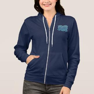 Blue Waves Women's Full-Zip Hoodie