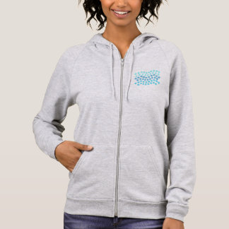 Blue Waves Women's Zip Hoodie