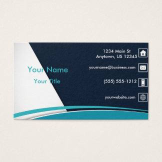 Blue Wavy Line Business Card