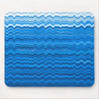 Blue wavy lines pattern mouse pad