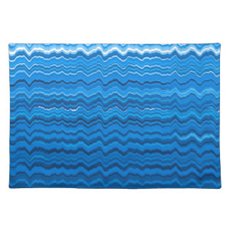 Blue wavy lines pattern placemat