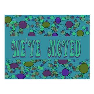 blue we ve moved postcard