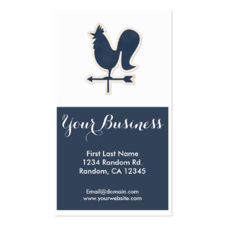 Blue weather vane customizable business cards business card